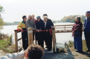 Official opening of the park (courtesy of Fred Neale)